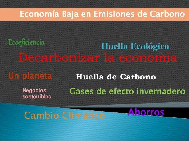 Decarbonizar la economía Huella de Carbono Negocios sostenibles Economía Baja en Emisiones de Carbono Cambio Climático Un ...