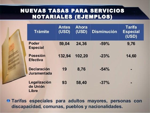 PARTICIPACIÓN DEL ESTADO Y NUEVAS NOTARÍAS Participación del Estado (del 5% al 51%) en los ingresos de los servicios notar...