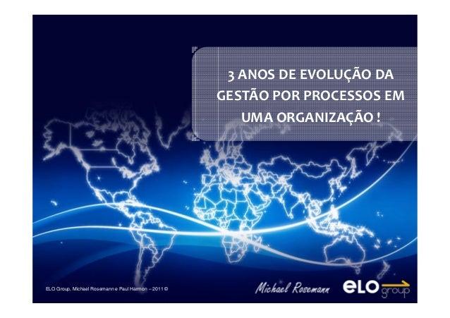 ELO Group, Michael Rosemann e Paul Harmon – 2011 © ELO Group, Michael Rosemann e Paul Harmon – 2011 © 3 ANOS DE EVOLUÇÃO D...