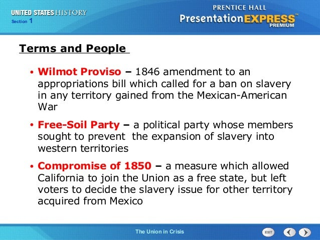 History Answers Section 1 States United