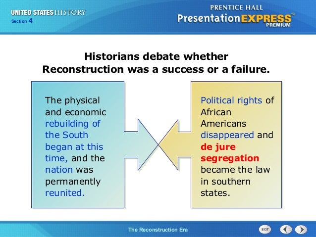 what were the successes and failures of reconstruction