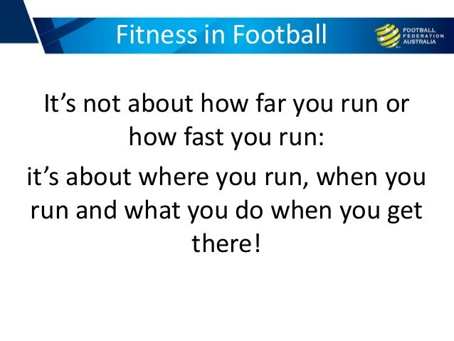 It's not about how far you run or how fast you run: it's about where you run, when you run and what you do when you get th...
