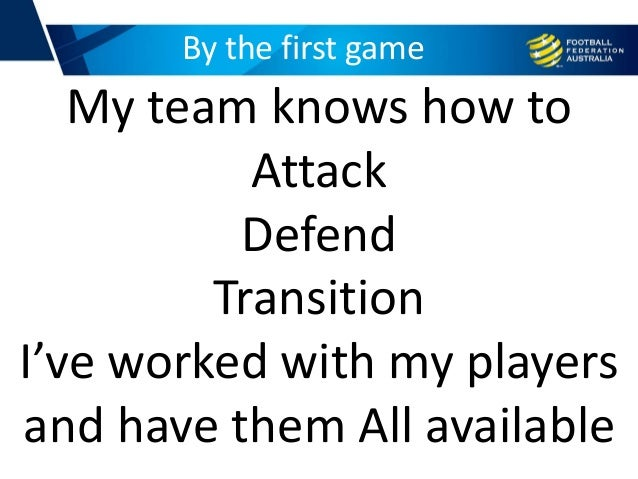 By the first game My team knows how to Attack Defend Transition I've worked with my players and have them All available