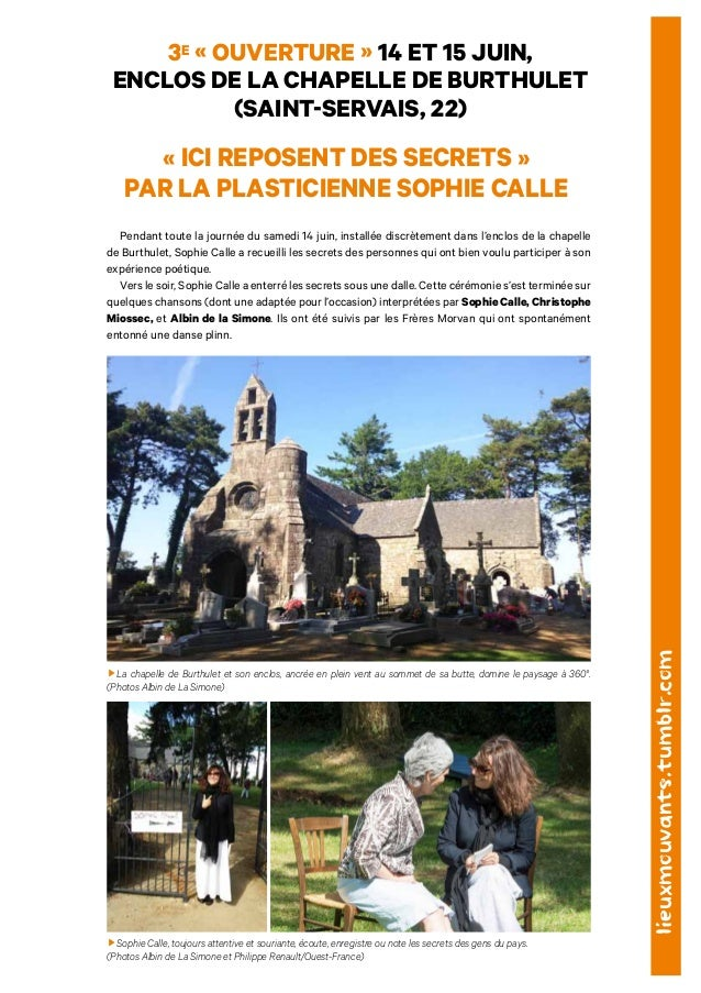 3e « ouverture » 14 ET 15 JUIN,  ENCLOS DE LA CHAPELLE DE BURTHULET  (SAINT-SERVAIS, 22)  « ICI REPOSENT DES SECRETS »  PA...