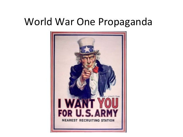 essay on world war 1 propaganda