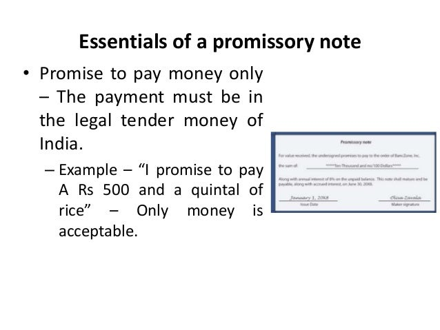 Promissory notes Legal Environment of Business Business Law Man – Legal Promise to Pay Document