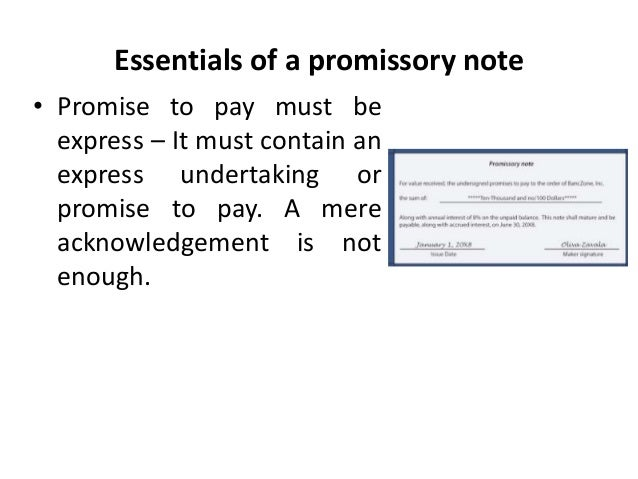 Promissory notes Legal Environment of Business Business Law Man – Promise to Pay Letter