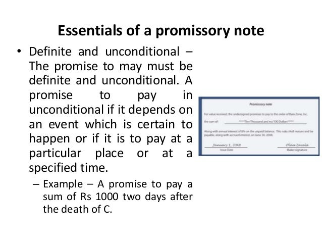 Promissory notes Legal Environment of Business Business Law Man – Promise to Pay Note
