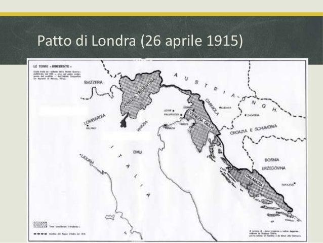 Cartina D Italia 1915.Patto Di Londra