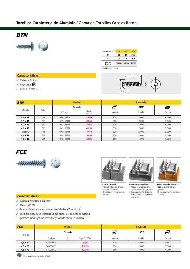 Tornillos para carpinteria aluminio for Carpinteria de aluminio