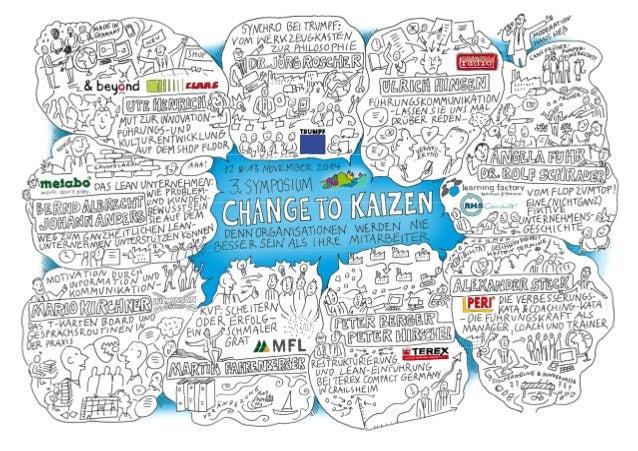 III. SYMPOSIUM CHANGE TO KAIZEN – Denn Organisationen werden nie besser sein als ihre Mitarbeiter @changetokaizen #ctk2014...