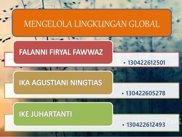 Manajemen forex dan lingkungan global