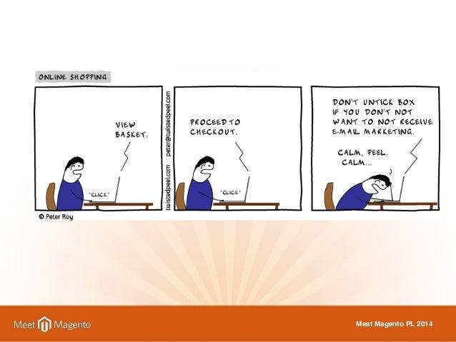 Opuszczają proces zakupu, ponieważ  staje się on ZBYT SKOMPLIKOWANY.  Meet Magento PL 2014