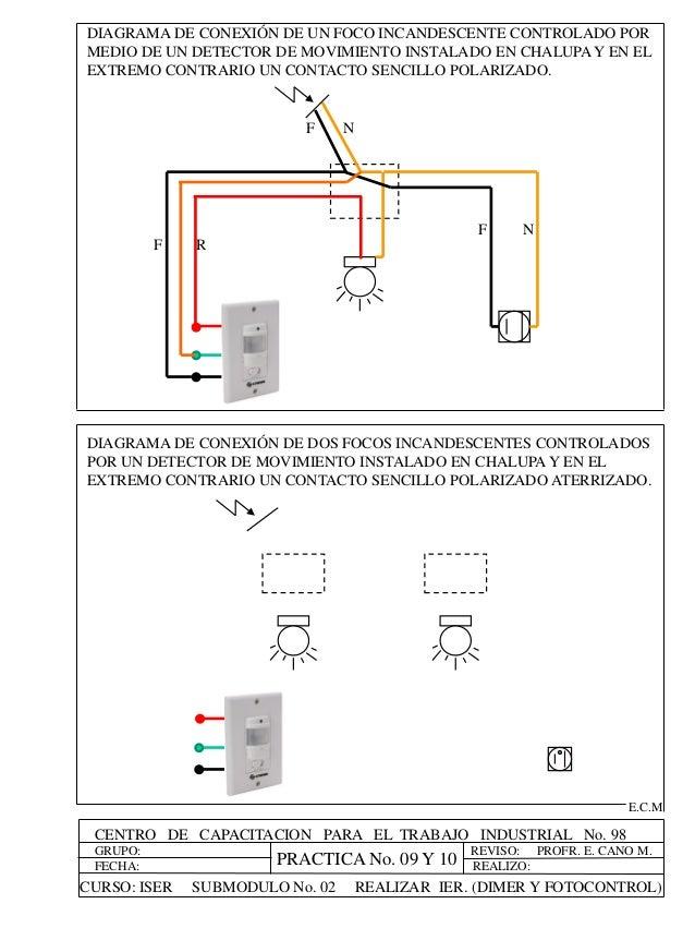Diagrama De Conexion De Un Dimmer Residential Electrical