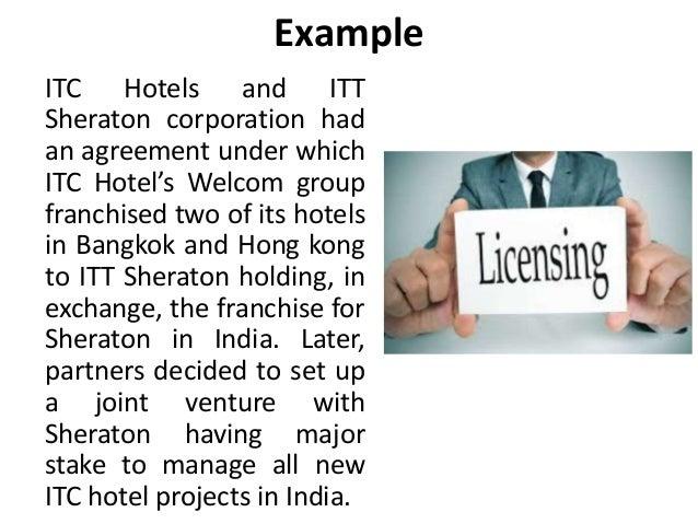 Licensing & Franchising International Business Manu