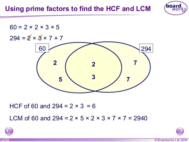 Hcf And Lcm Venn Diagram Acurnamedia