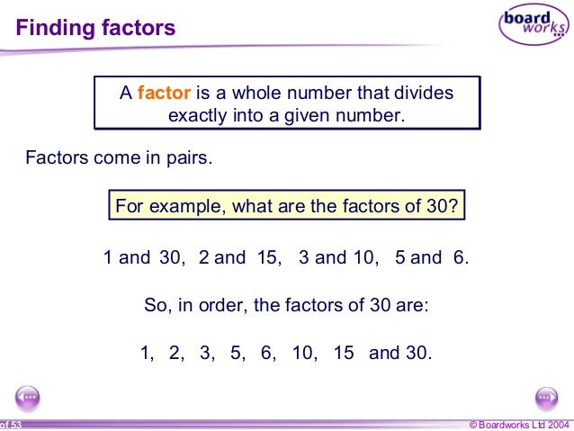 3. multiples, factors and primes