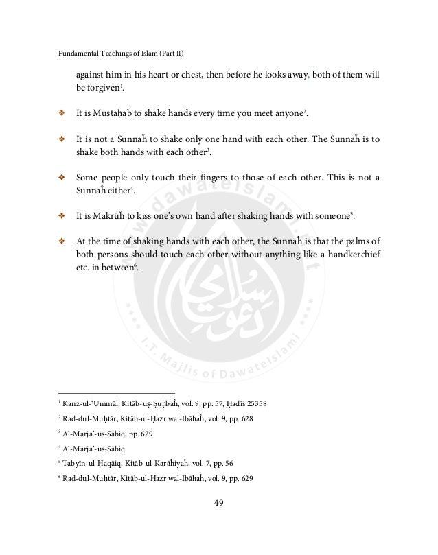 Fundamental Teachings of Islam (Part-2)
