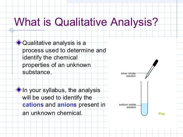 3. qualitative analysis
