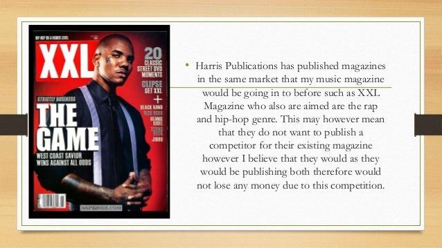 • Harris Publications has published magazines in the same market that my music magazine would be going in to before such a...