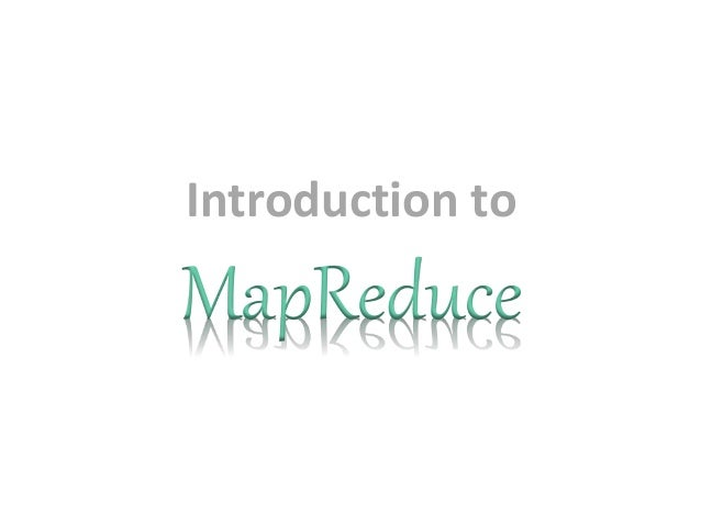 3.introduction to map reduce