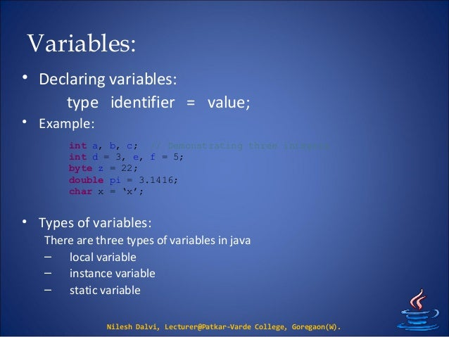 Understanding the three types of variables