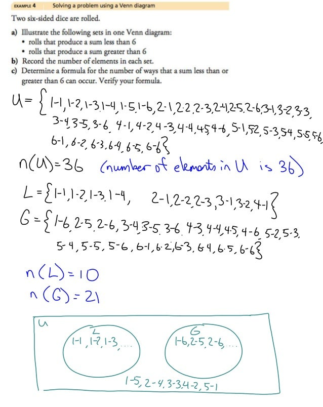 31 sets and set notation example 4 solving a problem using a venn diagram ccuart Gallery