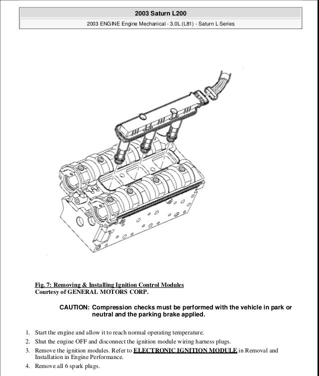 30 l engine – In Dis Module Wiring Diagram For 2003 Saturn L200