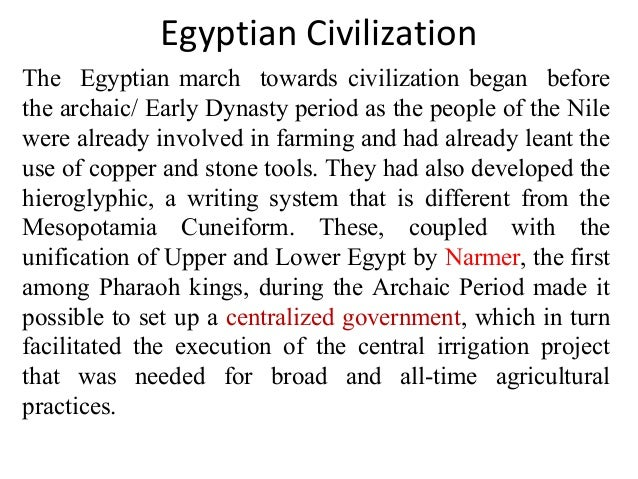 egyptian civilization notes