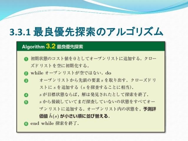 3.3.1 最良優先探索のアルゴリズム