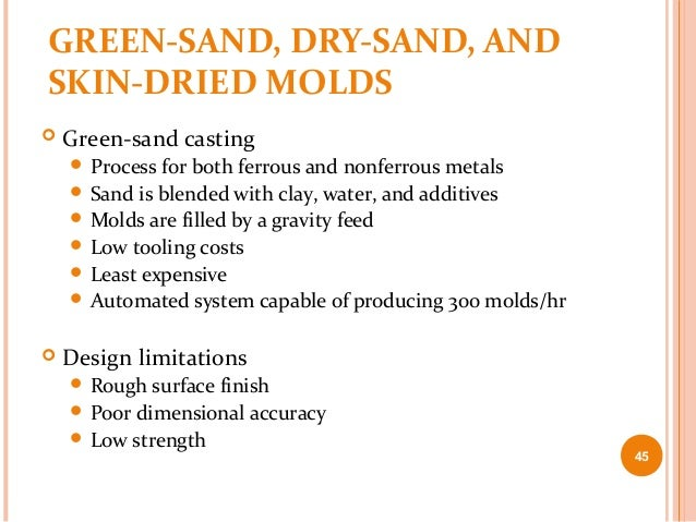 Sand moulding process ppt
