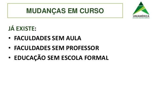 """""""O estudante como protagonista da aprendizagem: o caso da Faculdade Uniamérica"""", por Ryon Braga - Uniamérica/Hoper Slide 3"""