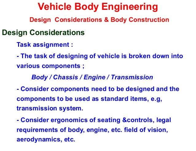 Vehicle Design construction