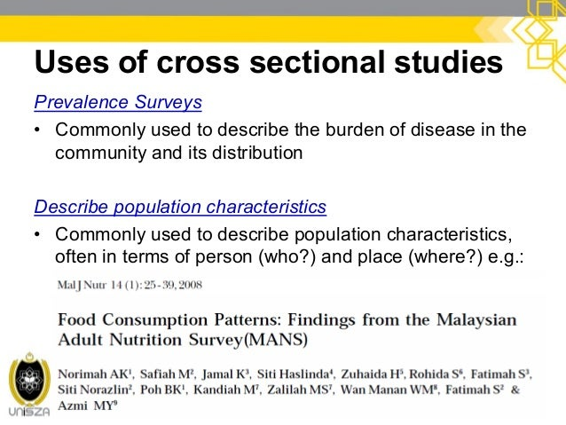 cross sectional study design pdf