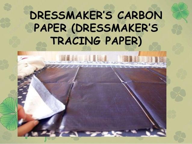 DRESSMAKER'S CARBON PAPER (DRESSMAKER'S TRACING PAPER)