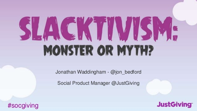 #socgiving Jonathan Waddingham - @jon_bedford Social Product Manager @JustGiving