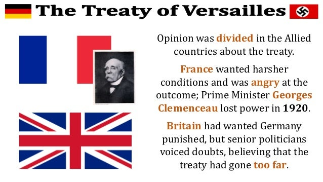 the events that led to the treaty of versailles in germany The limits that the treaty of versailles placed on germany's ability to produce military goods is important to understand because it allows us to better understand why the treaty failed to keep peace in europe after world war one.