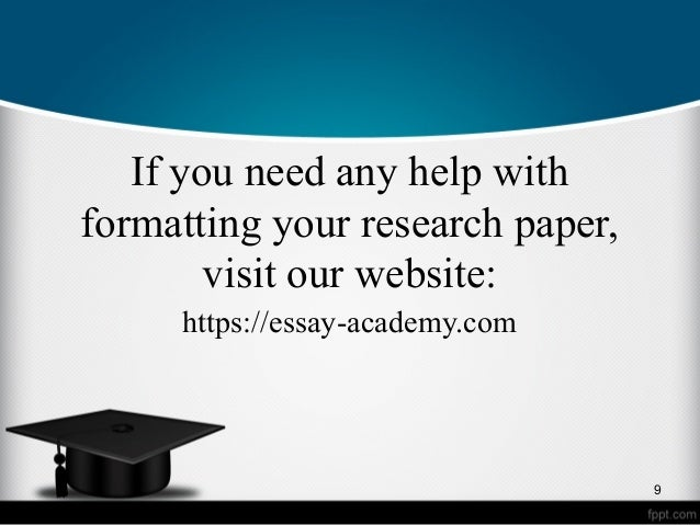 Help with your paper apa