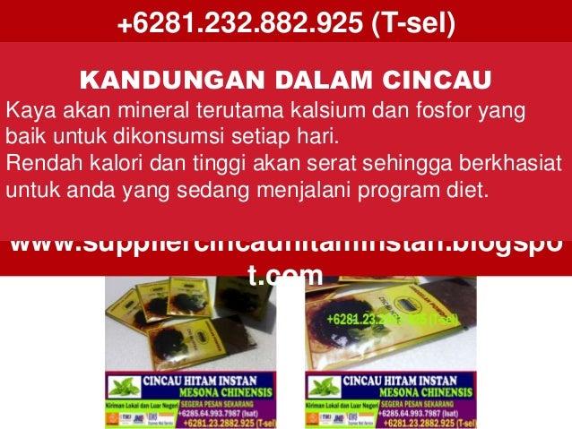 +6281.232.882.925 (T-sel) www.suppliercincauhitaminstan.blogspo t.com KANDUNGAN DALAM CINCAU Kaya akan mineral terutama ka...