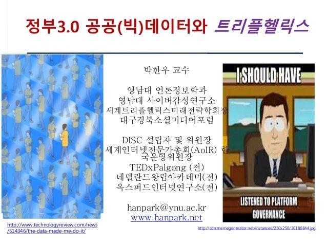 정부3.0 공공(빅)데이터와 트리플헬릭스 http://cdn.memegenerator.net/instances/250x250/30186844.jpg http://www.technologyreview.com/news /5...