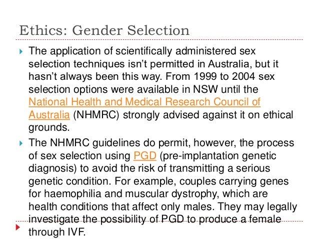 pgd sex selection australia in Manitoba