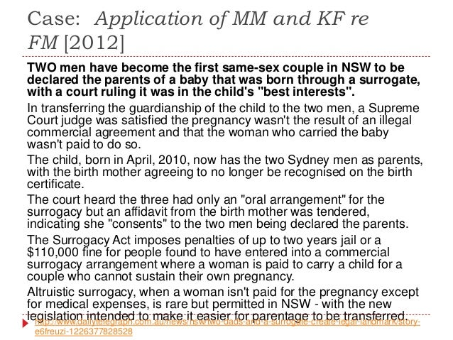 issues with surrogacy in queensland