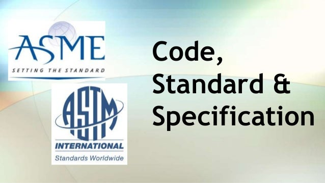 Code, Standard & Specification