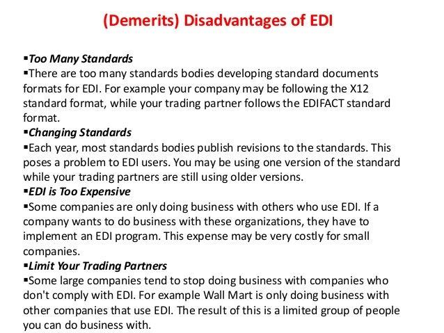 electronic data interchange advantages and disadvantages EDI