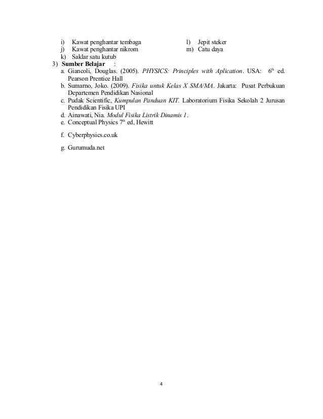 3 Sma Kelas Xii Rpp Kd 3 2 4 2 Rangkaian Arus Searah Karlina 130823