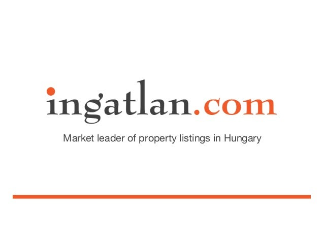 Market leader of property listings in Hungary