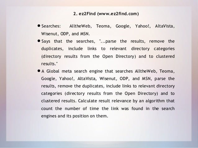 Meta Search Engine: An Introductory Study