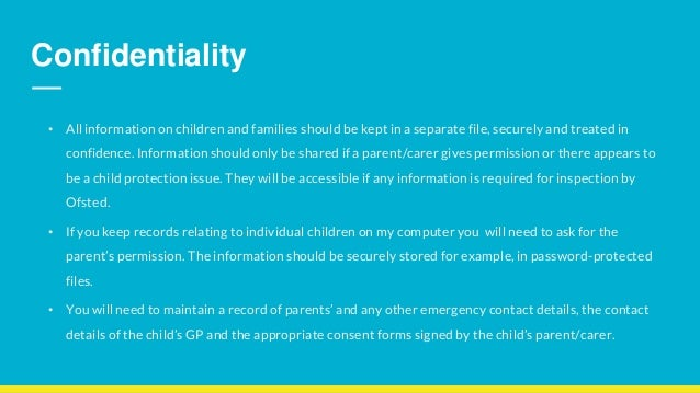 why is it important to maintain confidentiality