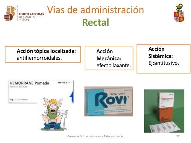 3 formas farmac uticas y v as de administraci n for Farmacologia para fisioterapeutas