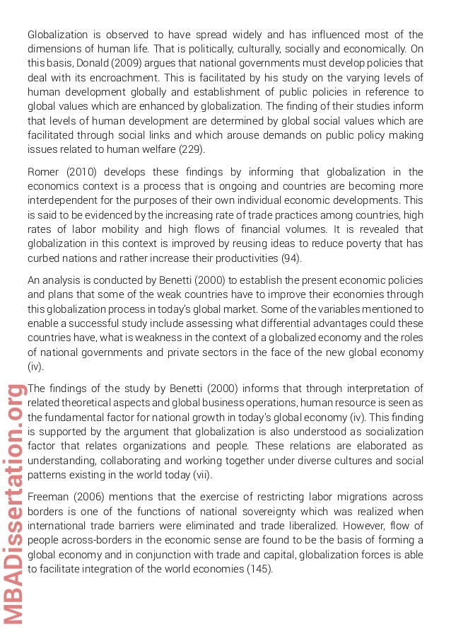 Phd thesis globalization